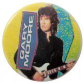 Gary Moore - 'Yellow' Button Badge